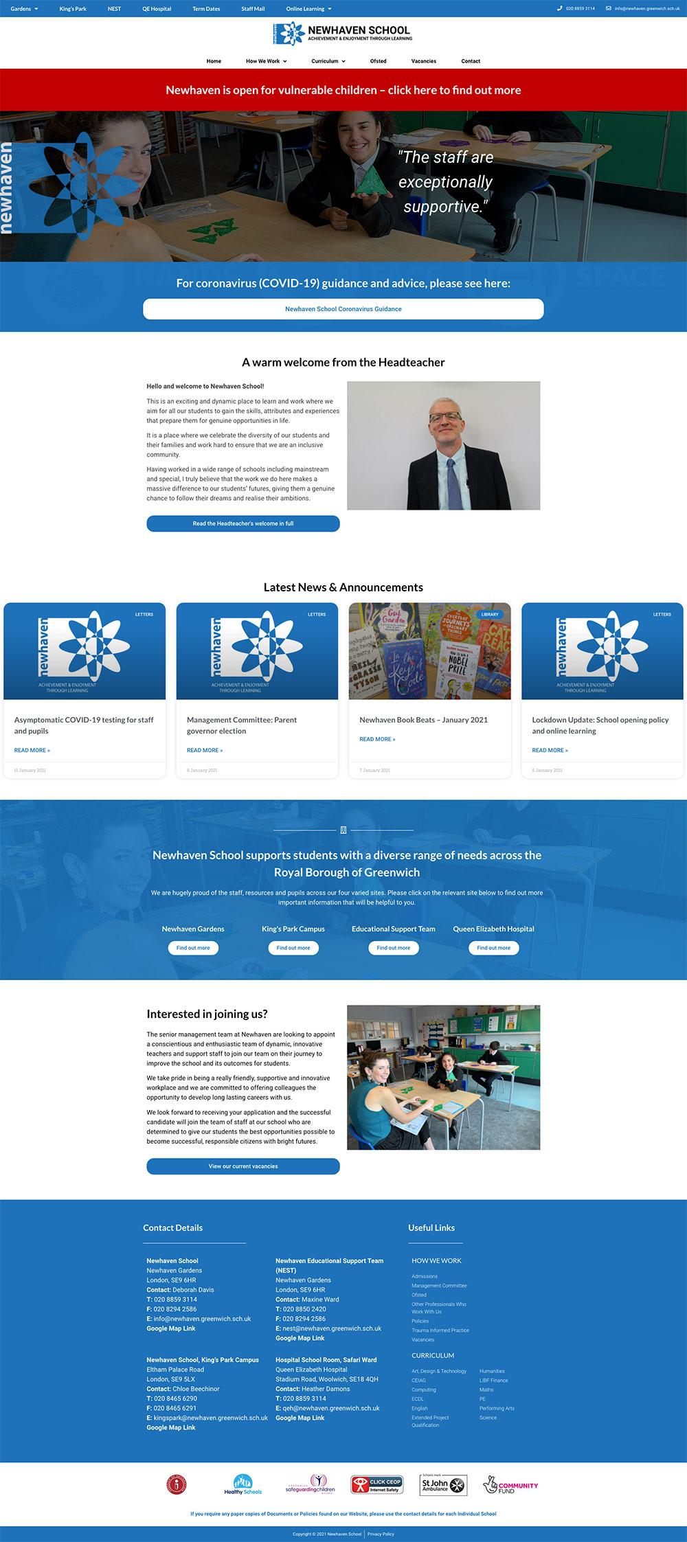 newhaven school website